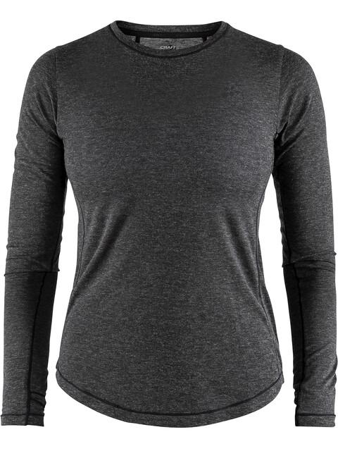 Craft Urban Run LS Wool Shirt Women black melange